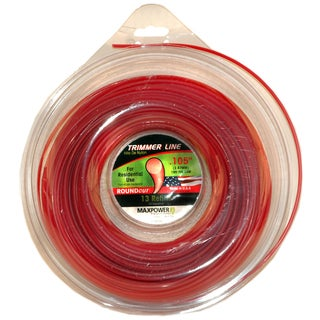 Maxpower 333105 .105-inch X 195-foot Red Round Cut Residential Grade Trimmer Line