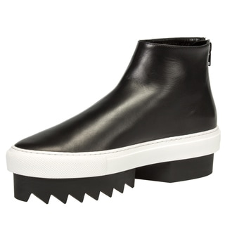 Givenchy Leather High-Top Platform Skate Sneaker in Black w/ Black Heel