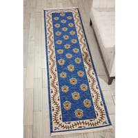 Nourison Nourmak Encore Blue Area Rug (2'6 x 10')