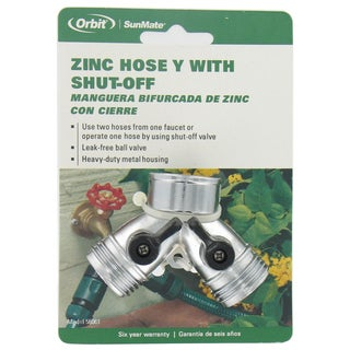 Orbit 58061N Zinc Hose Y With Shut-Off