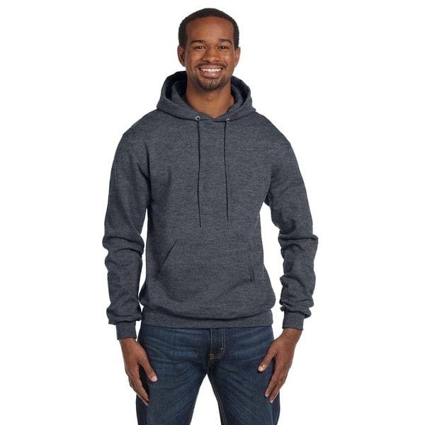 Mens Pullover Charcoal Heather Hood