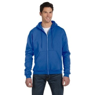 Men's Full-Zip Royal Blue Heather Hood (XL)