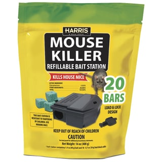 Harris MBARS-20 Refillable Mouse Killer Bait Station