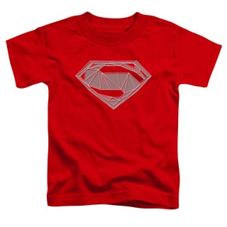 Batman V Superman/Techy S Short Sleeve Toddler Tee in Red