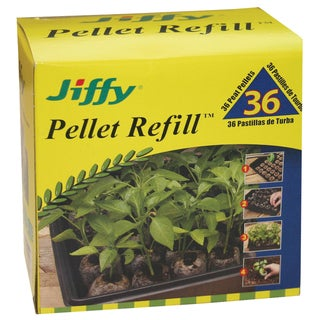 Jiffy J3R36 36 MM Plant Pellet Refill 36-count