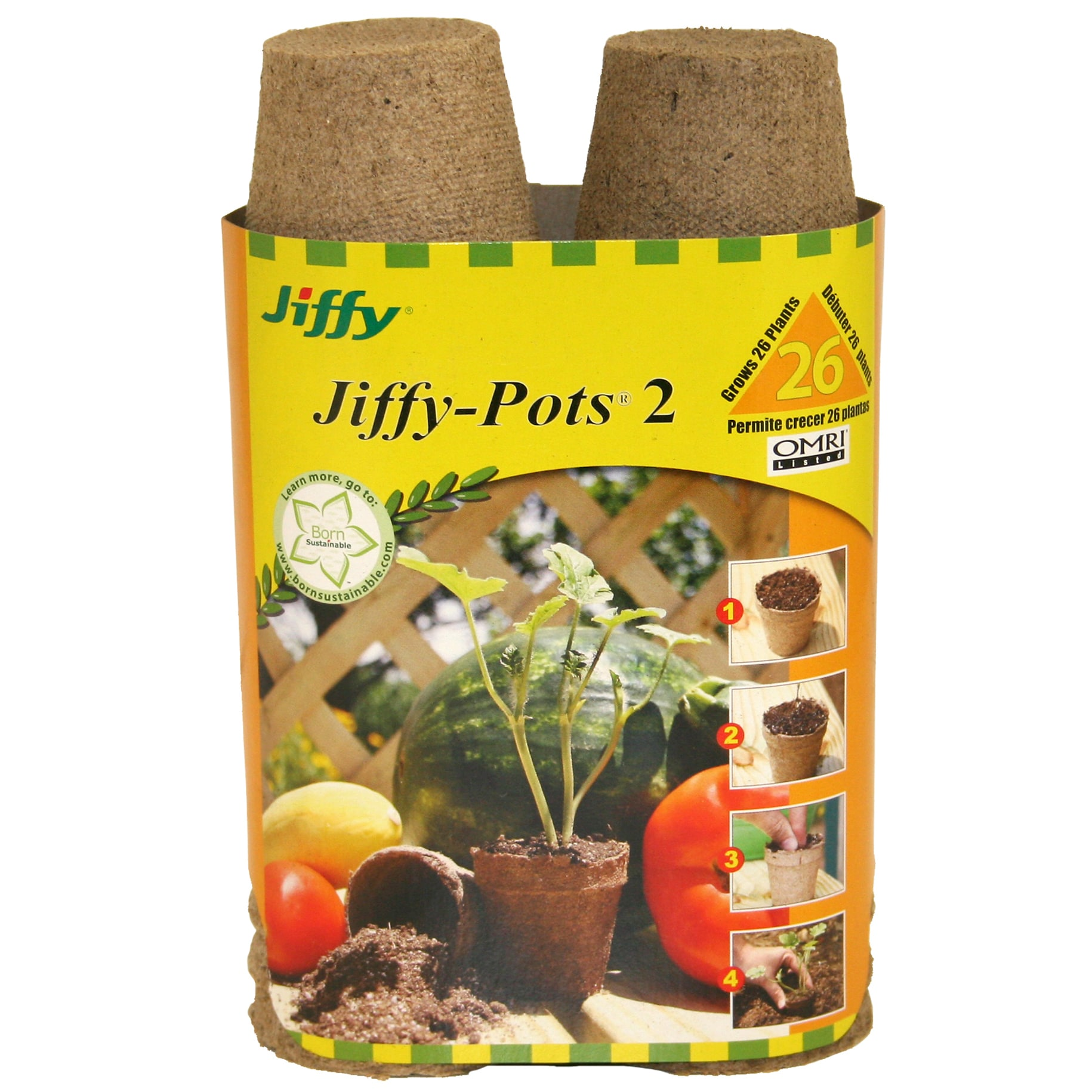 Jiffy JP226 26-count 2-1/4-inch Jiffy Pots (Plant Starter...