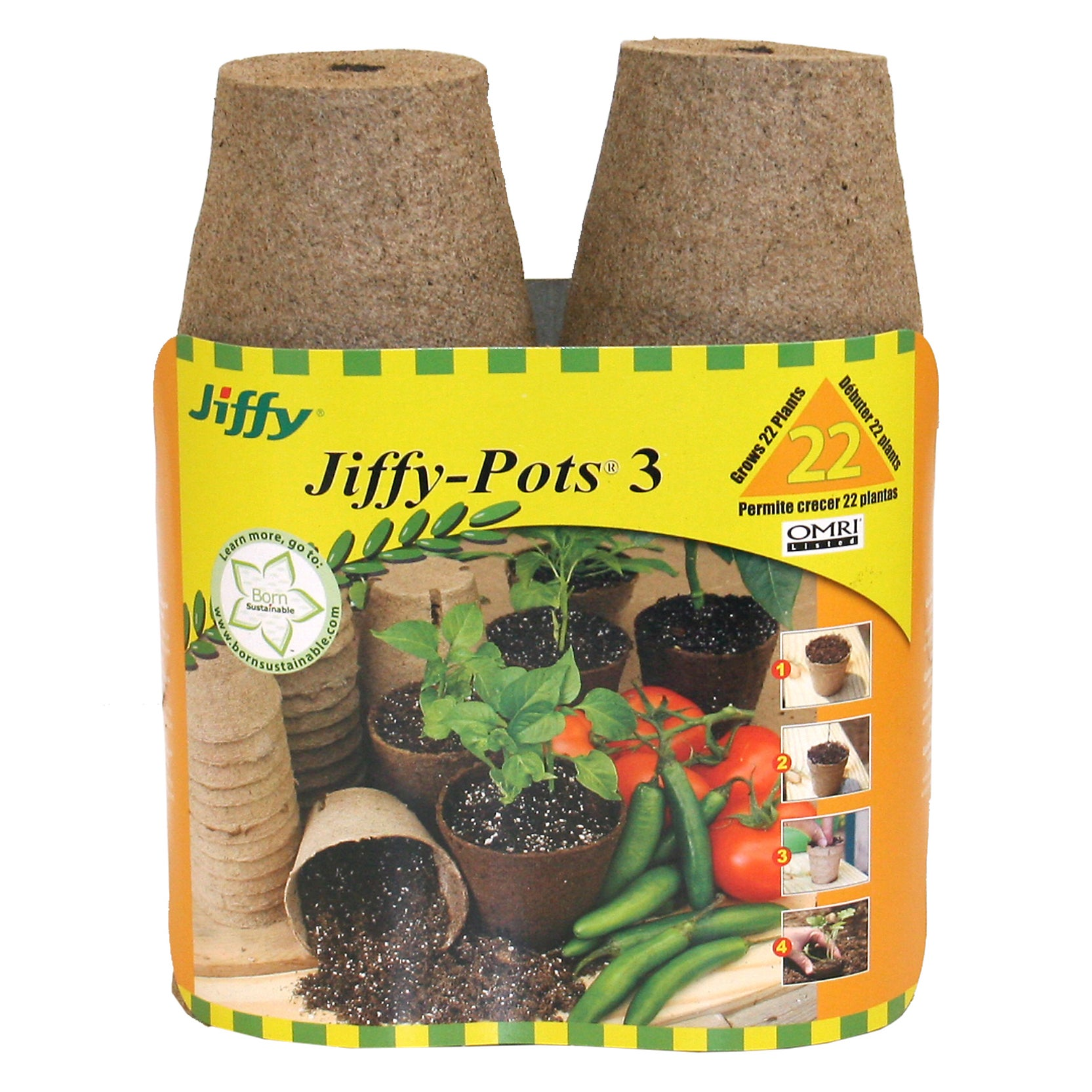 Jiffy JP322 22-count 3-inch Jiffy Pots (Plant Starters) (...