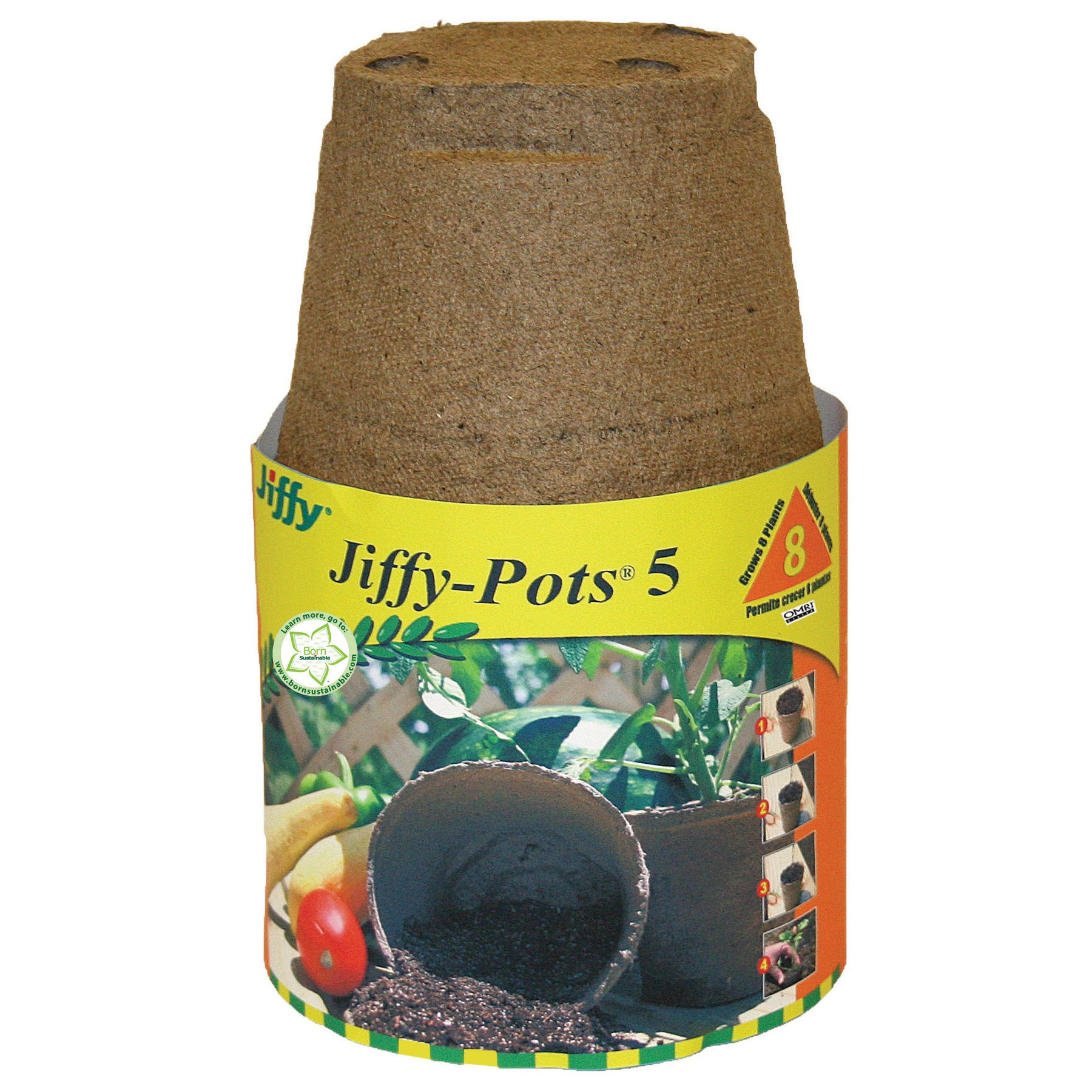 Jiffy JP506 8-count Round Jiffy Pots 5 (Plant Starters) (...