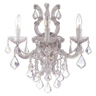 Crystorama Maria Theresa Collection 3-light Polished Chrome/Swarovski Strass Crystal Wall Sconce