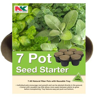 Jiffy PFB7 All Natural Fiber 7 Pot Seed Starter Kit