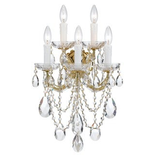 Crystorama Maria Theresa Collection 5-light Gold/Crystal Wall Sconce