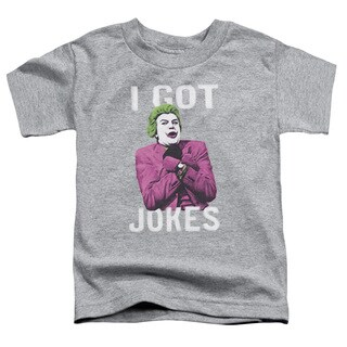 Batman Classic Tv/Got Jokes Short Sleeve Toddler Tee in Athletic Heather