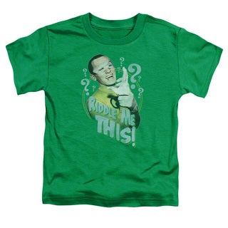 Batman Classic Tv/Riddle Me This Short Sleeve Toddler Tee in Kelly Green