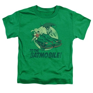 Batman Classic Tv/To The Batmobile Short Sleeve Toddler Tee in Kelly Green