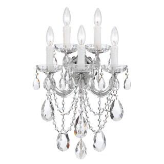 Crystorama Maria Theresa Collection 5-light Polished Chrome/Crystal Wall Sconce