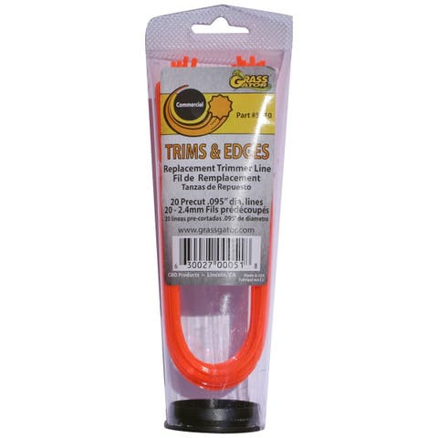 Grass Gator 5610 .095-inch Pre-Cut Trim Line 20-count