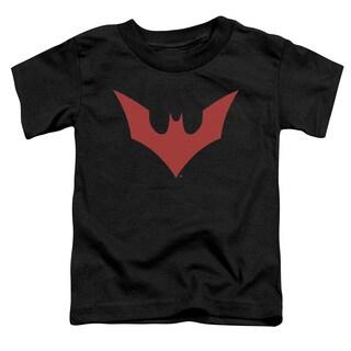 Batman Beyond/Beyond Bat Logo Short Sleeve Toddler Tee in Black