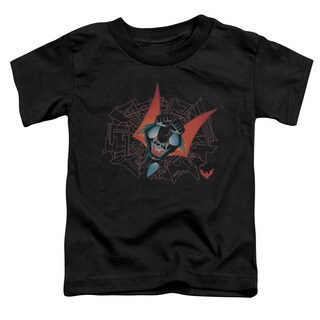 Batman Beyond/Swooping Down Short Sleeve Toddler Tee in Black