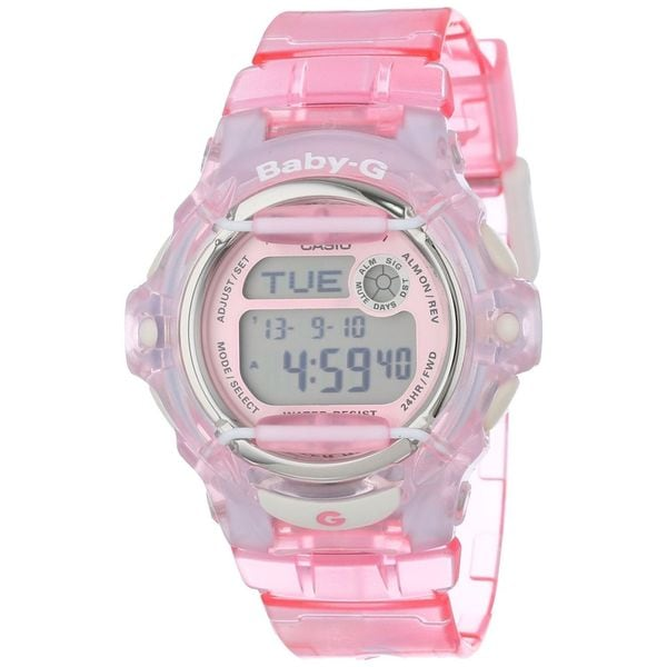 Casio Women's 'Baby-G' Digital Pink Resin Watch