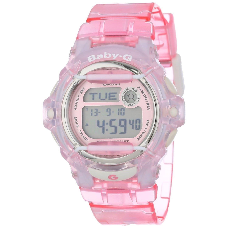 Casio Women's BG169R-4 'Baby-G' Digital Pink Resin Watch ...