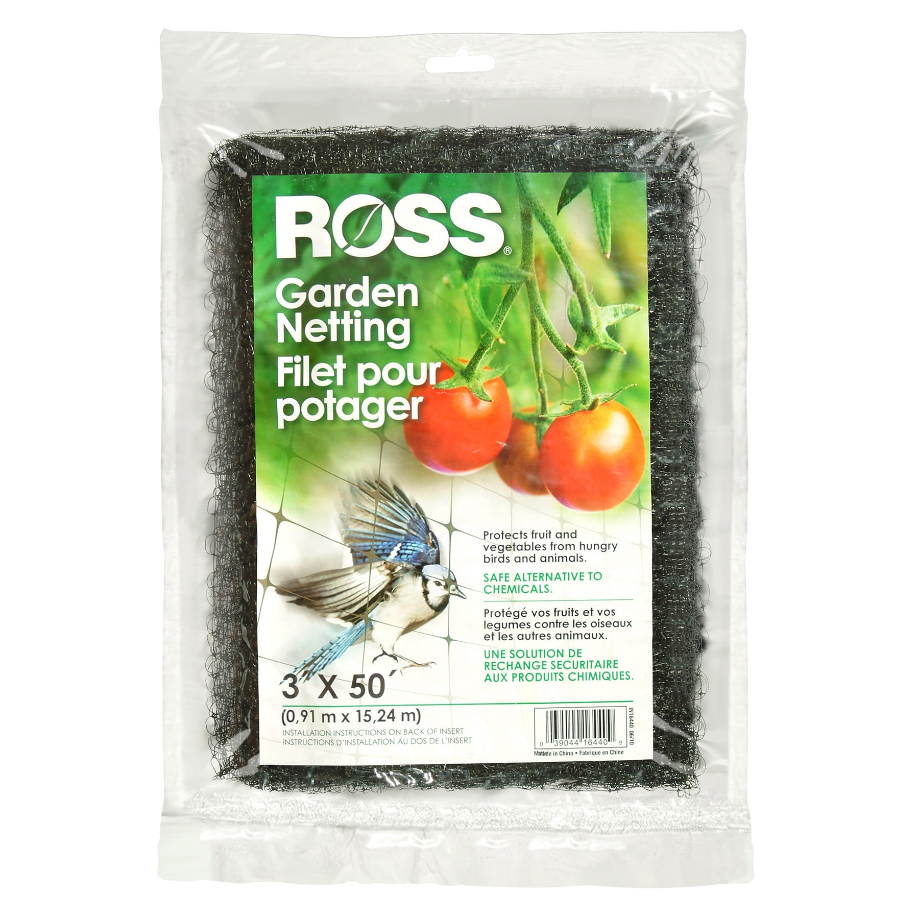 Ross 16440 3-foot X 50-foot Garden Netting (Plant Stakes ...