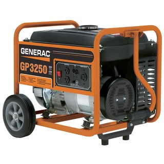 Generac 5982 3250 Watt 20cc OHV Portable Gas Powered Generator