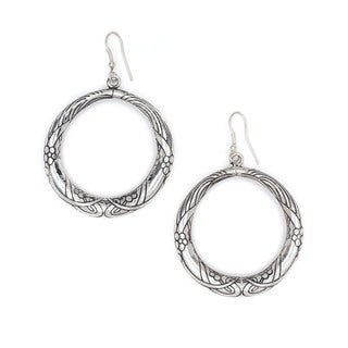 Selene Hoop Earrings - Silver (India)
