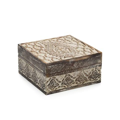 Handmade Antique Finish Jewelry Box (India)