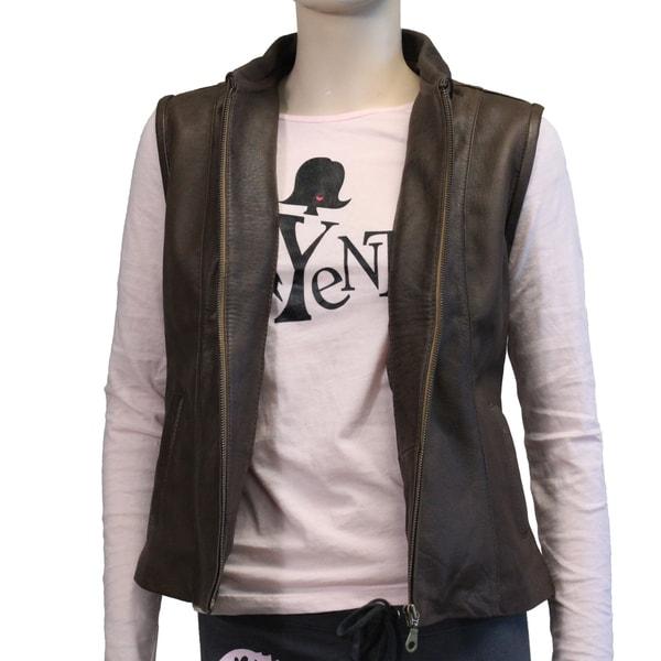 Ladies Exclusive Style Genuine Leather Vest (Ecuador)