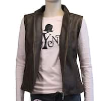 Handmade Ladies Exclusive Style Genuine Leather Vest (Ecuador)