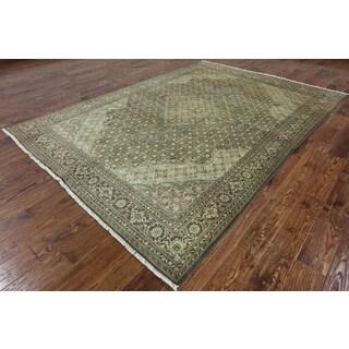 Hand-Knotted Oriental Tabriz Multi Wool Rug (6' 7 X 9' 4)