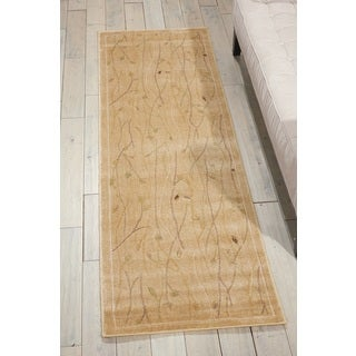 Nourison Mondrian Gold Area Rug (2'3 x 7'6)