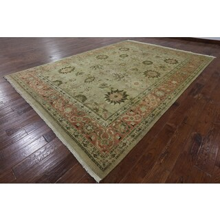 Hand-Knotted Oriental Peshawar Brown Wool Rug (8' 10 X 12' 6)