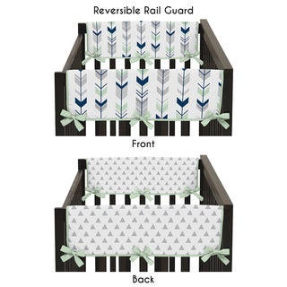 Sweet Jojo Designs Grey and Mint Mod Arrow Collection Side Crib-rail Guard Covers