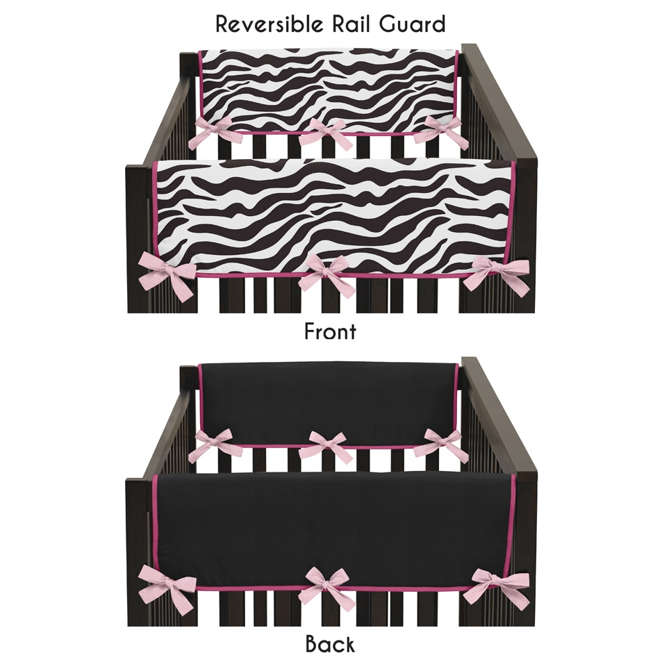 JoJo Designs Pink Microsuede Funky Zebra Collection Side ...
