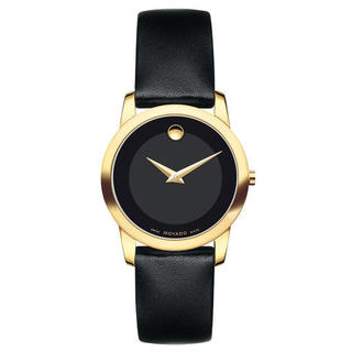 Movado Women's Museum Black Leather Watch