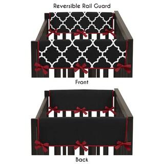Sweet Jojo Designs Trellis Collection Red/Black 2-piece Side Crib Rail Guard Cover Set