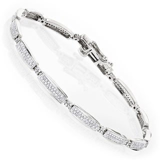Luxurman 14k Gold 1ct TDW Diamond Tennis Bracelet (H-I, SI1-SI2)