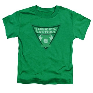 Batman Bb/Green Lantern Shield Short Sleeve Toddler Tee in Kelly Green