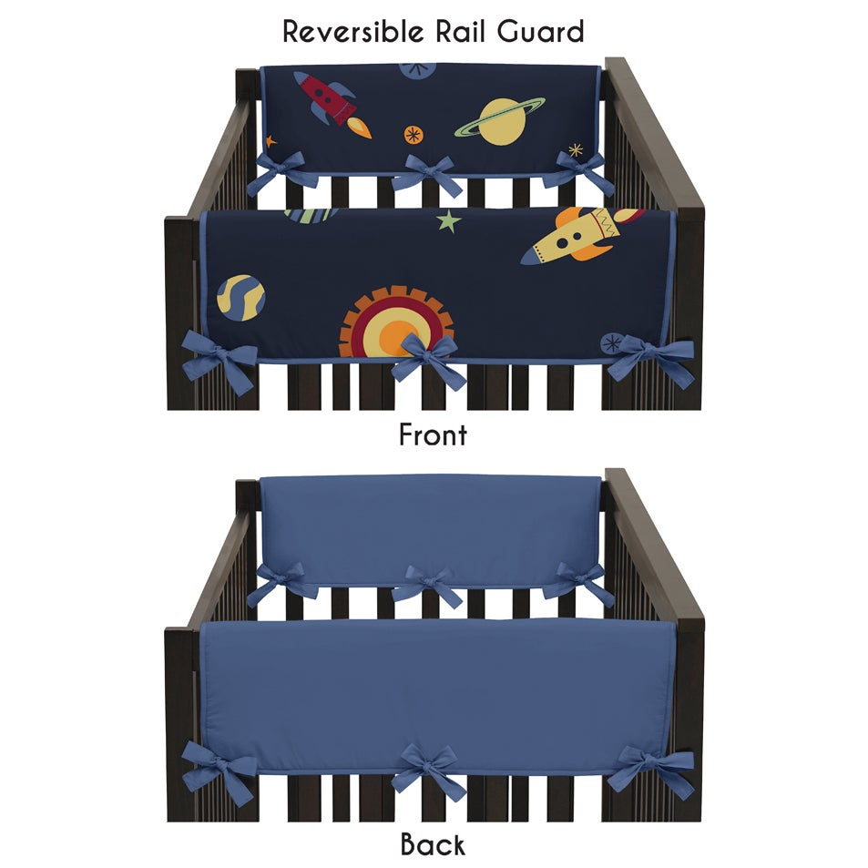 JoJo Designs Multicolor Microfiber Reversible Side Crib R...