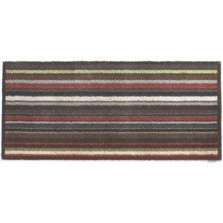 Hug Rug Eco-Friendly Dirt Trapper Multi Stripe Plum Washable Runner Rug (2'1.5 x 4'11) - 2' x 5'