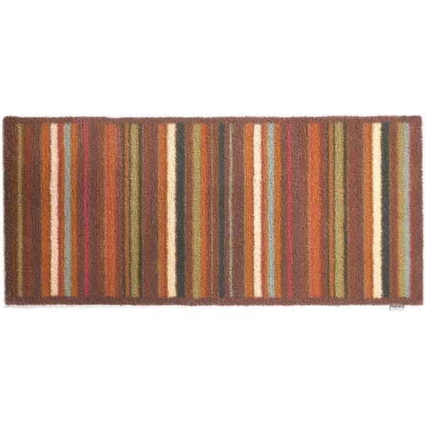Washable Throw Rugs On Sale: Shop Hug Rug Eco-Friendly Dirt Trapper Multi Stripe Brown