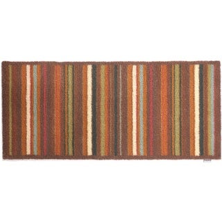 Hug Rug Eco-Friendly Dirt Trapper Multi Stripe Brown Washable Runner Rug (2'1.5 x 4'11)