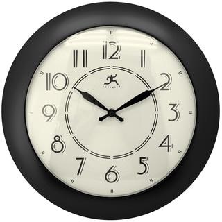Infinity Instruments Black 14.5-inch Jitter Bug Wall Clock