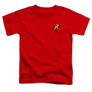 Batman/Robin Logo Short Sleeve Toddler Tee in Red