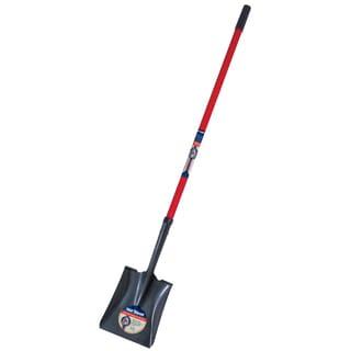 True Temper 1564900 Square Point True American Fiberglass Handle Shovel