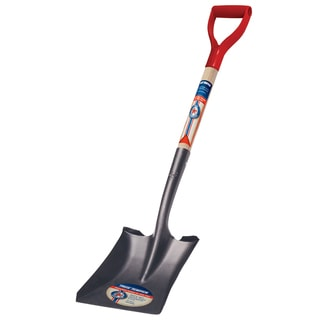 True Temper 1564500 Square Point True American D Shaped Wood Handle Shovel