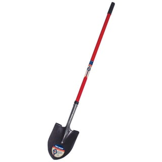 True Temper 1564800 Round Point True American Fiberglass Handle Shovel