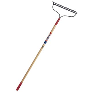 True Temper 1849400 True American Wood Handle Bow Rake