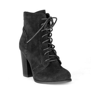 Mark and Maddux Byron-02 Lace-up Women's High Heel Booties